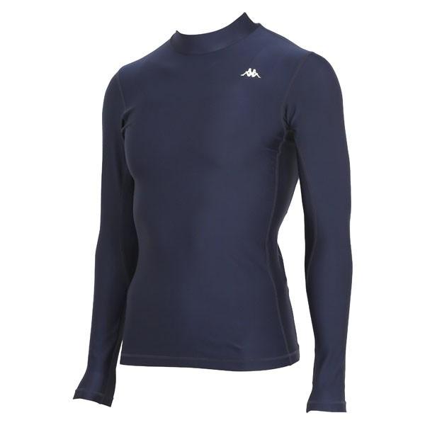 17FW カッパ(Kappa) ロングノースリーブコンプレッションシャツ KF412UT31-NV