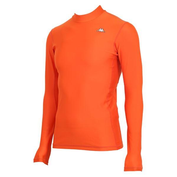17FW カッパ(Kappa) ロングノースリーブコンプレッションシャツ KF412UT31-OR2