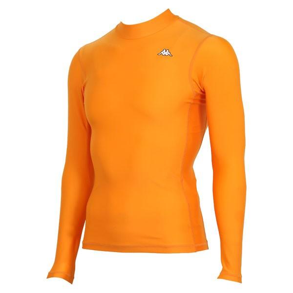 17FW カッパ(Kappa) ロングノースリーブコンプレッションシャツ KF412UT31-OR