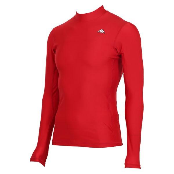 17FW カッパ(Kappa) ロングノースリーブコンプレッションシャツ KF412UT31-RD