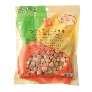 ペッツルート 素材メモ ひとくちオードブル ほうれん草・チーズ入り お徳用 200g (犬用おやつ)