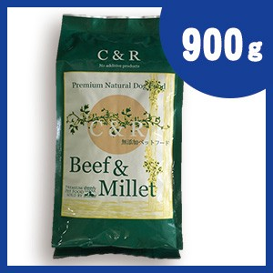 C R ビーフ&ミレット 900g (2ポンド) 牛肉ベースドッグフード (旧SGJプロダクツ)【正規品】