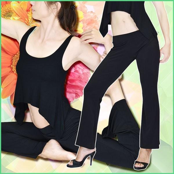ダンスパンツ★EE0262 ローライズストレッチブーツカット美脚パンツ | ダンスウェア レッスンウェア フィットネス ヨガ ベリーダン