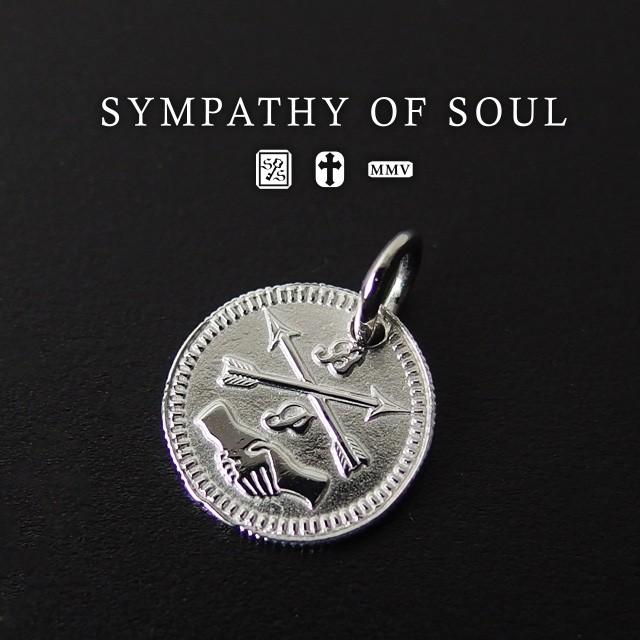 シンパシーオブソウル コインチャームシルバーネックレス Friendship Coin Charm - Silver メンズ レディース ユニセックス sympathy of