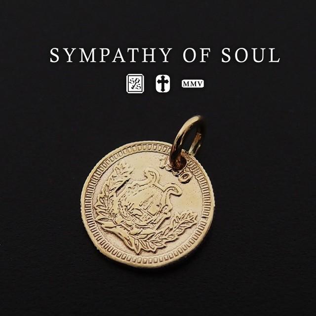 シンパシーオブソウル コインチャームk10ネックレス メンズ レディース ユニセックス sympathy of soul ペンダント チョーカー アクセサ