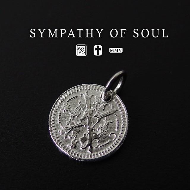 シンパシーオブソウル コインチャームシルバーネックレス Bless Coin Charm - Silver メンズ レディース ユニセックス sympathy of soul