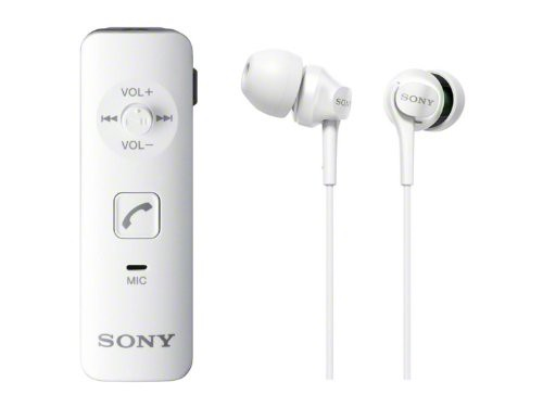 SONY カナル型ワイヤレスイヤホン Bluetooth対応 マイク付 ホワイト DRC-BTN40K/W