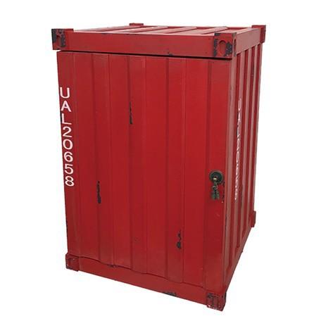 収納ボックス コンテナ型 レッド トランクケース インダストリアル 家具 男前 ヴィンテージ アンティーク カフェ シンプル