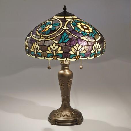 ステンドグラスランプ ライラ || ライト 照明 テーブル デスクライト