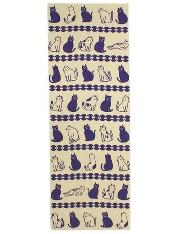 カヤ 分銅猫(ふんどうねこ)手ぬぐい || バス トイレ ランドリー てぬぐい