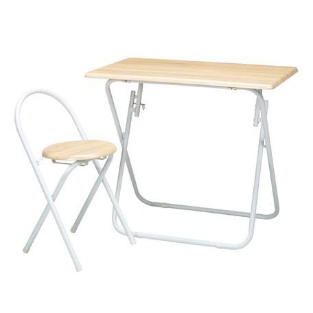 ヴィンテージデスク&チェア 幅80cm 折りたたみ式 テーブル 机 イス セット オフィス おしゃれ || 家具 デスク&チェアセット