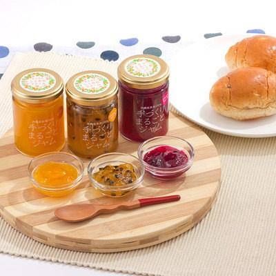 送料無料 沖縄県産のフルーツを使用した 手づくりまるごとジャム (マンゴー、ドラゴンフルーツ、パッションフルーツ)