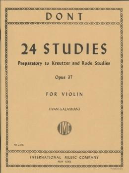 楽譜 GYS00072675 ドント : クロイツェルとロード(ローデ)への24の準備的練習曲 Op.37/ガラミアン編 / インターナショナル・ミュージッ