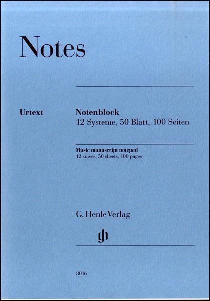 ノートパッド(A4)剥ぎ取り式五線紙・12段・50枚・両面 / ヘンレー(ファンシー)