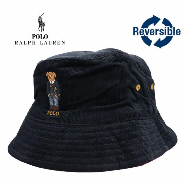 ポロ・ラルフローレン コーデュロイ バケットハット ポロベア メンズ 帽子 おしゃれ Polo Ralph Lauren