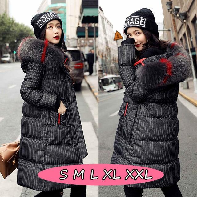 e305d5e4977577 ロング丈 ブラック色 ダウンジャケット ダウンコート 女性用 厚手 アウター 冬 スリム 無地 レディース