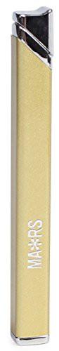 MARS(マーズ) ガスライター スリム スクエア 注入式 レディース ゴールド MARS-L002GD
