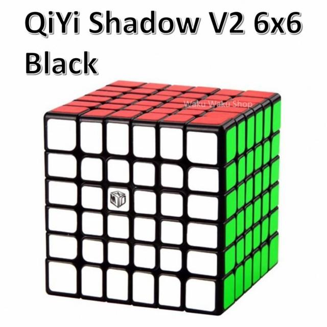 【安心の保証付き】【正規販売店】 QiYi Shadow V2 磁石搭載 6x6x6キューブ ブラック ルービックキューブ おすすめ なめらか