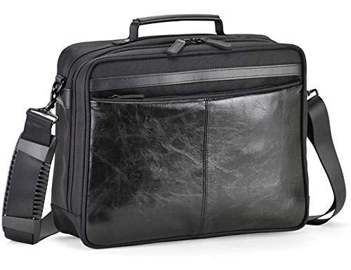 ショルダーバッグ ビジネスバッグ メンズ 通勤 斜めがけ A4 軽量 横型 2way タブレット対応 自立 合皮 多機能 横幅30cm 黒 ブラック