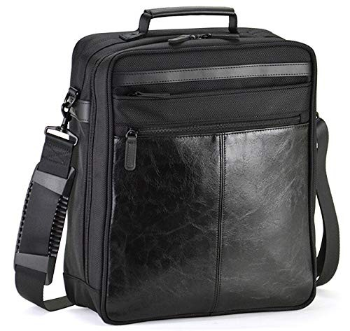 ショルダーバッグ ビジネスバッグ メンズ 斜めがけ A4 軽量 縦型 2way 黒 ブラック 通勤 ビジネス 合皮 横幅27cm