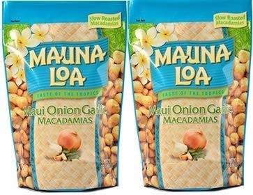 マウナロア マウイオニオン ガーリック マカデミアナッツ Lサイズ 283g 2袋 ハワイ土産 お土産 おみやげ プレゼント マカダミアナッツ 大