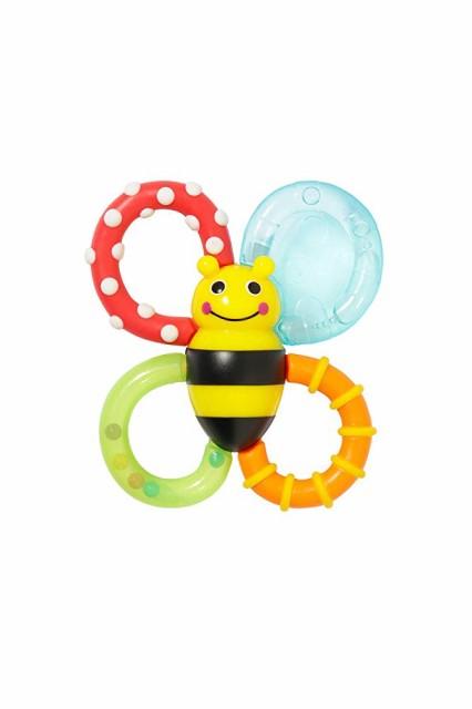 カミカミ ミツバチ Sassy 歯固めラトル 3ヶ月から対象 ひんやり 色々な感触 バンブル・バイツ・ファン TYSA80679