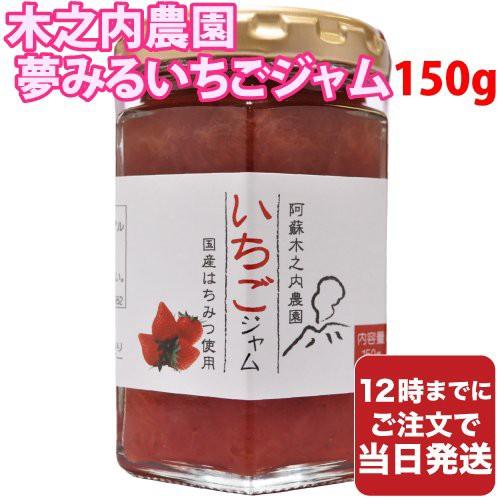 木之内農園 夢みるいちごジャム 150g 国産 熊本 阿蘇 イチゴ ジャム 朝食 送料無料