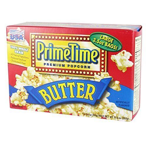 プライムタイム マイクロウェーブ ポップコーン バター味 1箱(297g)輸入菓子