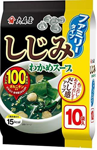 大森屋 しじみわかめスープ ファミリータイプ 1個(10袋入り)×5個セット