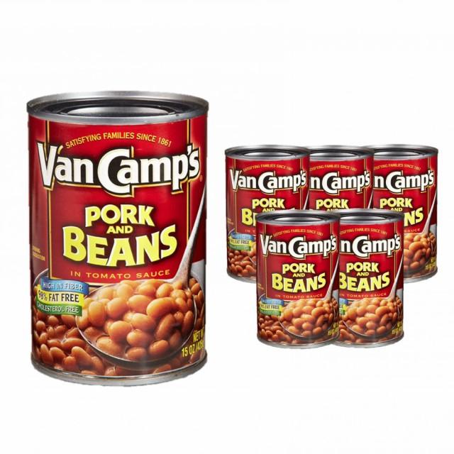 ヴァンキャンプス ポーク&ビーンズ 425g×6個セット