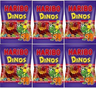 (送料無料)ハリボー ダイナソー 200g×6個セット 輸入菓子 HARIBO