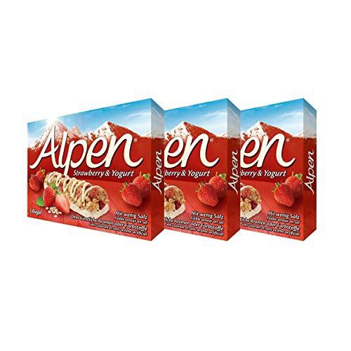 ウィータビックス アルペン シリアルバー ストロベリー&ヨーグルト 1箱(29g×5本入り)×3箱セット BOX 輸入菓子 シリアル weetabix