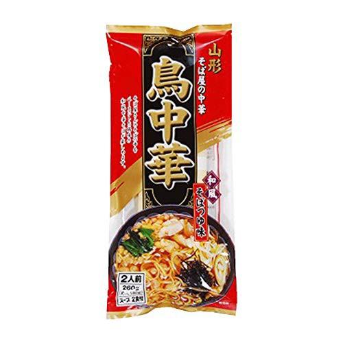 山形 鳥中華 インスタント ラーメン そばつゆ味 1袋(2食入り) 即席麺 袋麺 らーめん