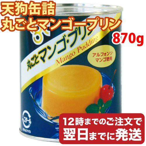 天狗缶詰 丸ごとマンゴープリン 缶詰 2号缶 870g お菓子 デザート スイーツ