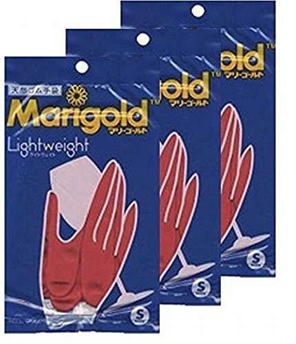 マリーゴールド ゴム手袋 キッチングローブ 3個セット Sサイズ