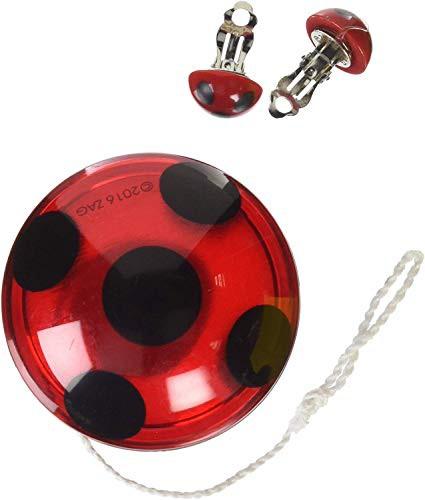 Rubies ミラキュラス レディバグ ヨーヨー イヤリング セット Rubies Costume Miraculous Ladybug Yo-Yo and Clip-On Earrings [並行輸入