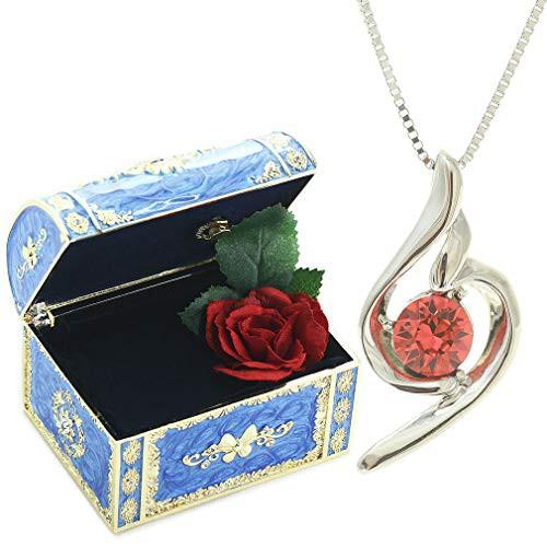 [デバリエ] y441-jb(gar) 1月誕生日プレゼント 女性 人気 彼女 母 贈り物 ネックレス レディース 贈り物 セット品(オルゴール1組 ネック