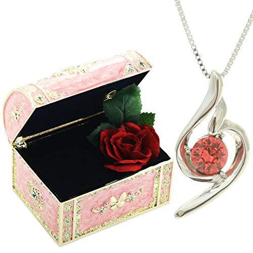[デバリエ] y441-jp(gar) 1月誕生日プレゼント 女性 人気 彼女 母 贈り物 ネックレス レディース 贈り物 セット品(オルゴール1組 ネック
