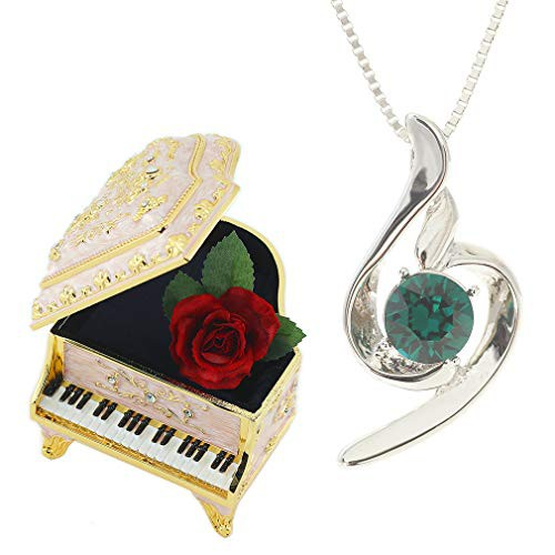 [デバリエ] y441-eme-pp(エメラルド(5月誕生石)) 5月誕生日プレゼント 女性 人気 彼女 母 贈り物 ネックレス レディース 贈り物 セット