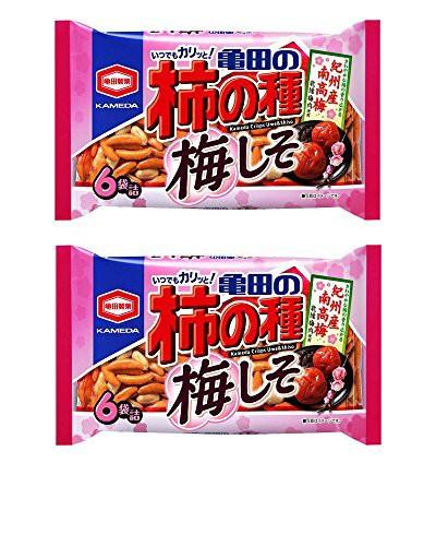 【まとめ買い】亀田製菓「亀田の柿の種 梅しそ」6袋詰 182g × 2袋