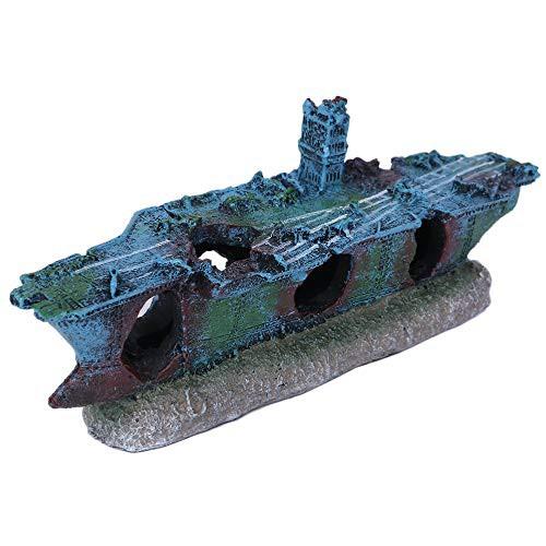 ルボナリエ 水槽 アクアリウム 航空母艦 オーナメント 流木 熱帯魚 置物 金魚水槽 金魚 生体 オブジェ ペット 用品 (空母 小)