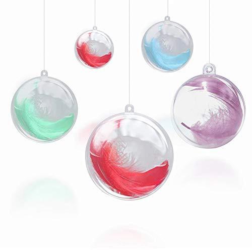 透明中空ボール 30個 6cm プラスチックボール オーナメント 収納用 DIY 球 プラスチック 装飾品 飾り付け オーナメントボール カプセル