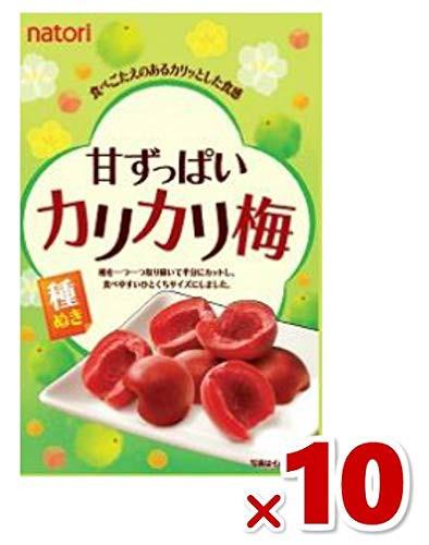 なとり 甘ずっぱい カリカリ梅 25g×10袋入