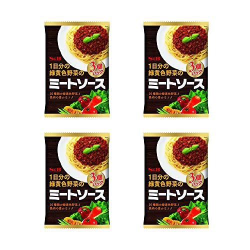 【4個セット】 S B 1日分の緑黄色野菜のミートソース 3個P ×4個