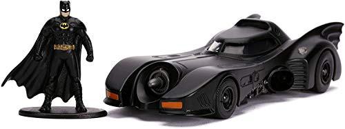 JADA バットマン バットモービル ミニカー 1/32 BATMAN BATMOBILE MOVIE 1989 バットマンフィギュア付き [並行輸入品]