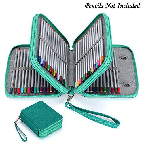 色鉛筆ホルダー 色鉛筆ケース 72 ペンシルホルダー 色鉛筆 収納ケース ペンケース 筆箱 大容量 人気 (色鉛筆なし)グリーン