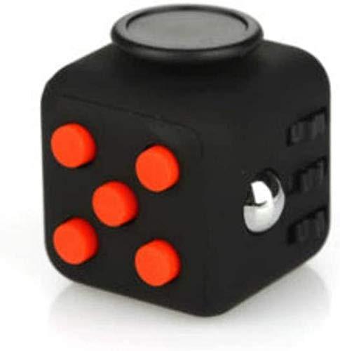[LilBit] Fidget Cube 6面 フィジェットキューブ ストレス解消キューブ (赤黒)
