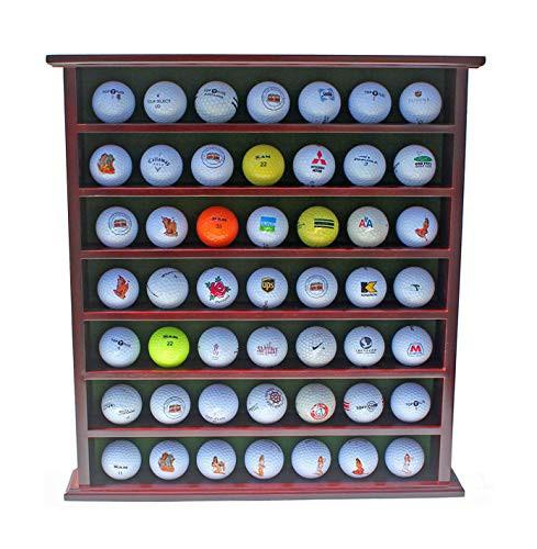 ゴルフボール49個ディスプレイケース キャビネットラック ドアなし マホガニー仕上げ GB20-MAH