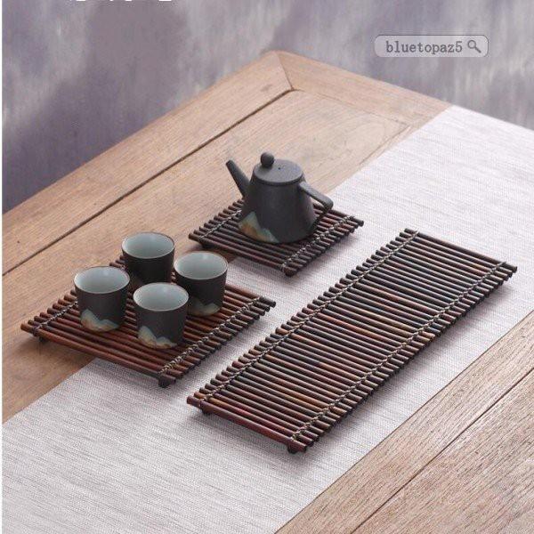 トレイ 竹いかだ お茶 竹 茶盤 竹茶盤 お盆 おぼん 竹製トレー 業務用 サービストレー 長方形 食器