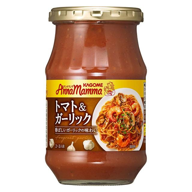 敬老の日 カゴメ アンナマンマ トマト&ガーリック 330g×6個 パスタソース 瓶詰 イタリアン スパゲッティ パスタ にんにく